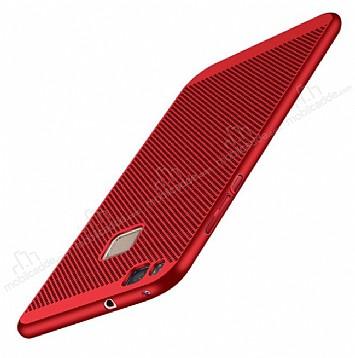 Eiroo Air To Dot Huawei P9 Lite 2017 Delikli Kırmızı Rubber Kılıf