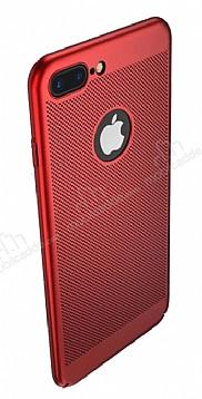 Eiroo Air To Dot iPhone 7 Plus Delikli Kırmızı Rubber Kılıf