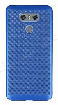 Eiroo Air To Dot LG G6 Delikli Mavi Rubber Kılıf