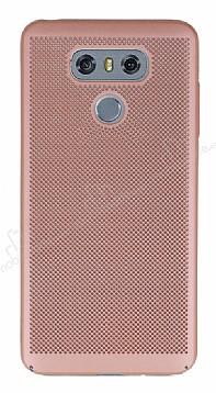 Eiroo Air To Dot LG G6 Delikli Rose Gold Rubber Kılıf