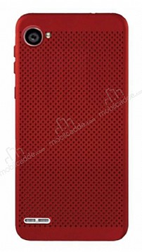 Eiroo Air To Dot LG Q6 Delikli Kırmızı Rubber Kılıf