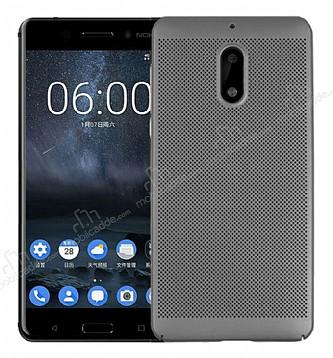 Eiroo Air To Dot Nokia 6 Delikli Dark Silver Rubber Kılıf