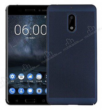 Eiroo Air To Dot Nokia 6 Delikli Lacivert Rubber Kılıf