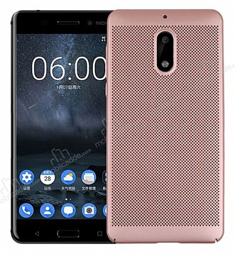 Eiroo Air To Dot Nokia 6 Delikli Rose Gold Rubber Kılıf