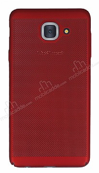 Eiroo Air To Dot Samsung Galaxy J7 Max Delikli Kırmızı Rubber Kılıf