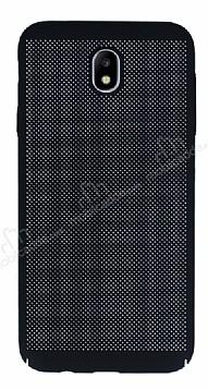 Eiroo Air To Dot Samsung Galaxy J7 Pro 2017 Delikli Siyah Rubber Kılıf