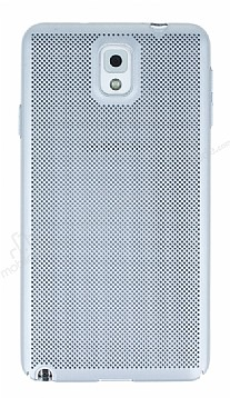 Eiroo Air To Dot Samsung Galaxy Note 3 Delikli Silver Rubber Kılıf