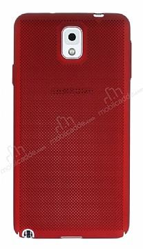 Eiroo Air To Dot Samsung Galaxy Note 3 Delikli Kırmızı Rubber Kılıf