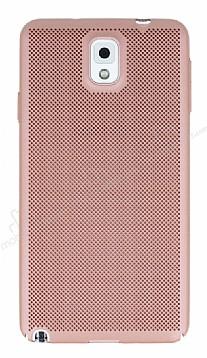 Eiroo Air To Dot Samsung Galaxy Note 3 Delikli Rose Gold Rubber Kılıf