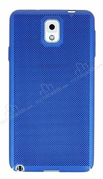 Eiroo Air To Dot Samsung Galaxy Note 3 Delikli Mavi Rubber Kılıf
