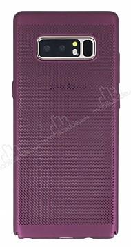 Eiroo Air To Dot Samsung Galaxy Note 8 Delikli Mor Rubber Kılıf