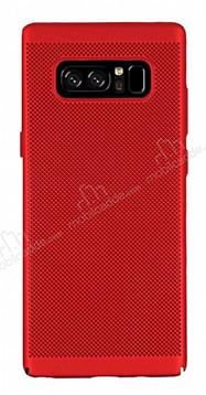 Eiroo Air To Dot Samsung Galaxy Note 8 Delikli Kırmızı Rubber Kılıf