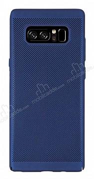 Eiroo Air To Dot Samsung Galaxy Note 8 Delikli Lacivert Rubber Kılıf