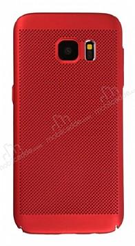 Eiroo Air To Dot Samsung Galaxy S7 Delikli Kırmızı Rubber Kılıf