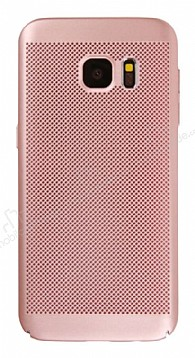 Eiroo Air To Dot Samsung Galaxy S7 Delikli Rose Gold Rubber Kılıf