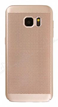 Eiroo Air To Dot Samsung Galaxy S7 Delikli Gold Rubber Kılıf