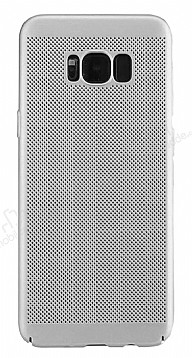 Eiroo Air To Dot Samsung Galaxy S8 Delikli Silver Rubber Kılıf