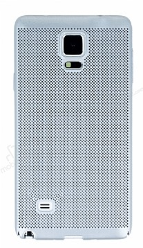 Eiroo Air To Dot Samsung N9100 Galaxy Note 4 Delikli Silver Rubber Kılıf