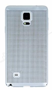 Eiroo Air To Dot Samsung N9100 Galaxy Note 4 Delikli Silver Rubber Kılıf