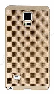 Eiroo Air To Dot Samsung N9100 Galaxy Note 4 Delikli Gold Rubber Kılıf