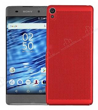 Eiroo Air To Dot Sony Xperia XA Delikli Kırmızı Rubber Kılıf