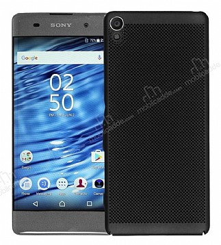 Eiroo Air To Dot Sony Xperia XA1 Delikli Siyah Rubber Kılıf