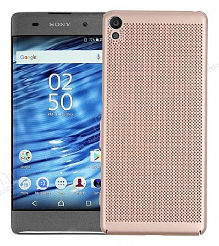 Eiroo Air To Dot Sony Xperia XA1 Delikli Gold Rubber Kılıf