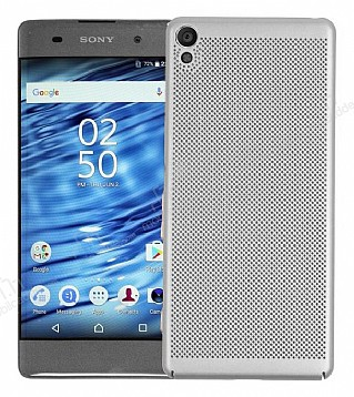 Eiroo Air To Dot Sony Xperia XA1 Delikli Silver Rubber Kılıf