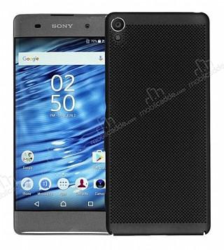 Eiroo Air To Dot Sony Xperia XA Ultra Delikli Siyah Rubber Kılıf