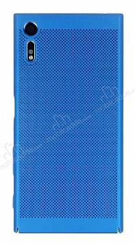 Eiroo Air To Dot Sony Xperia XZ Delikli Mavi Rubber Kılıf