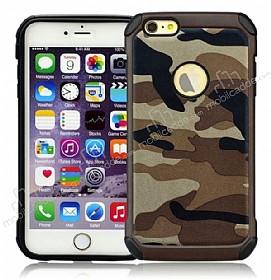 Eiroo Army iPhone 6 / 6S Ultra Koruma Kahverengi Kılıf