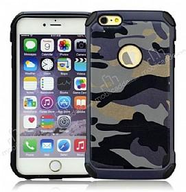 Eiroo Army iPhone 6 / 6S Ultra Koruma Lacivert Kılıf