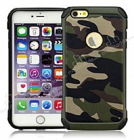 Eiroo Army iPhone 6 Plus / 6S Plus Ultra Koruma Yeşil Kılıf