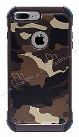 Eiroo Army iPhone 7 Plus / 8 Plus Ultra Koruma Kahverengi Kılıf