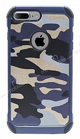 Eiroo Army iPhone 7 Plus Ultra Koruma Lacivert Kılıf
