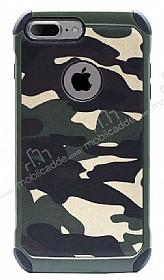 Eiroo Army iPhone 7 Plus Ultra Koruma Yeşil Kılıf