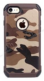 Eiroo Army iPhone 7 Ultra Koruma Kahverengi Kılıf