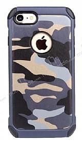 Eiroo Army iPhone 7 / 8 Ultra Koruma Lacivert Kılıf