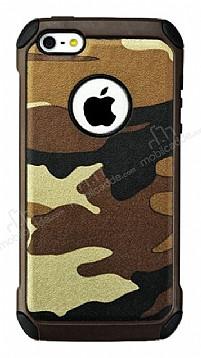 Eiroo Army iPhone SE / 5 / 5S Ultra Koruma Kahverengi Kılıf