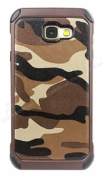 Eiroo Army Samsung Galaxy A3 2017 Ultra Koruma Kahverengi Kılıf