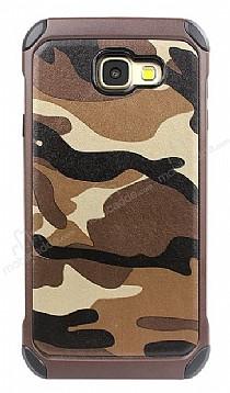 Eiroo Army Samsung Galaxy A5 2017 Ultra Koruma Kahverengi Kılıf