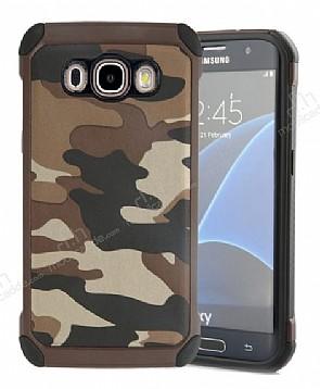 Eiroo Army Samsung Galaxy J5 2016 Ultra Koruma Kahverengi Kılıf