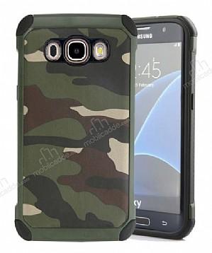 Eiroo Army Samsung Galaxy J7 2016 Ultra Koruma Yeşil Kılıf