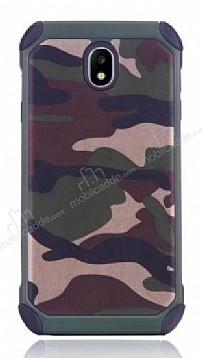 Eiroo Army Samsung Galaxy J7 Pro 2017 Ultra Koruma Yeşil Kılıf