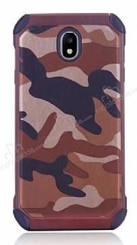 Eiroo Army Samsung Galaxy J7 Pro 2017 Ultra Koruma Kahverengi Kılıf
