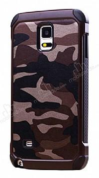 Eiroo Army Samsung Galaxy Note 4 Ultra Koruma Kahverengi Kılıf