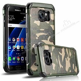 Eiroo Army Samsung Galaxy S7 Edge Ultra Koruma Yeşil Kılıf