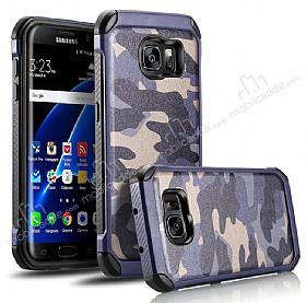 Eiroo Army Samsung Galaxy S7 Edge Ultra Koruma Lacivert Kılıf