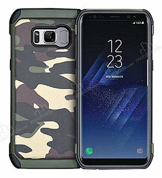 Eiroo Army Samsung Galaxy S8 Plus Ultra Koruma Yeşil Kılıf