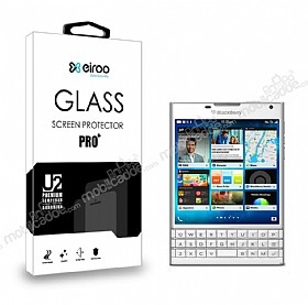 Eiroo BlackBerry Passport Tempered Glass Cam Ekran Koruyucu